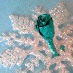 Elsa's Blue Foil Rose
