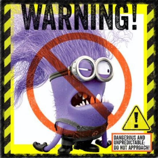 Warning Evil Minion