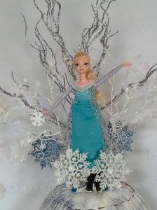 Elsa Pumpkin Centerpiece Close up