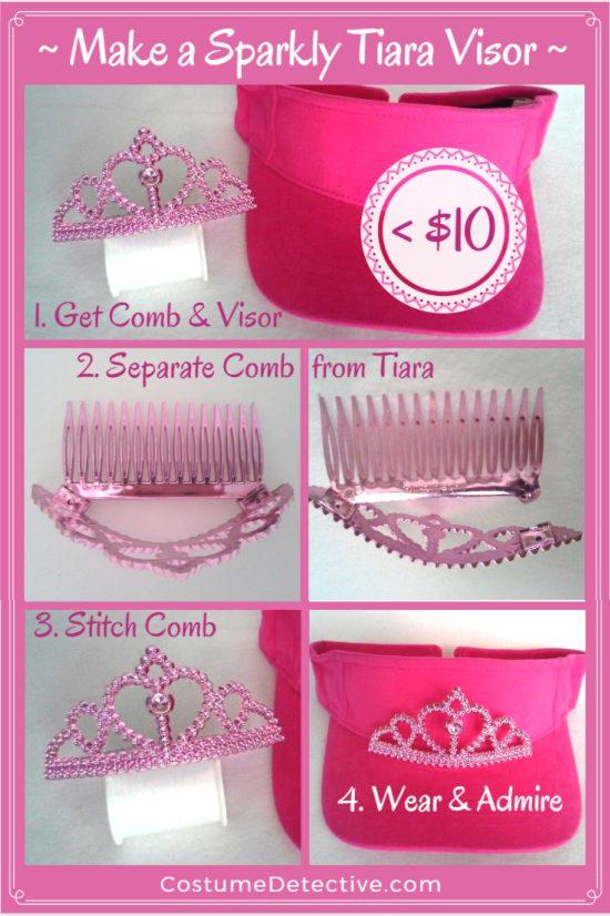 Make a Sparkly Tiara Visor for Less than $10