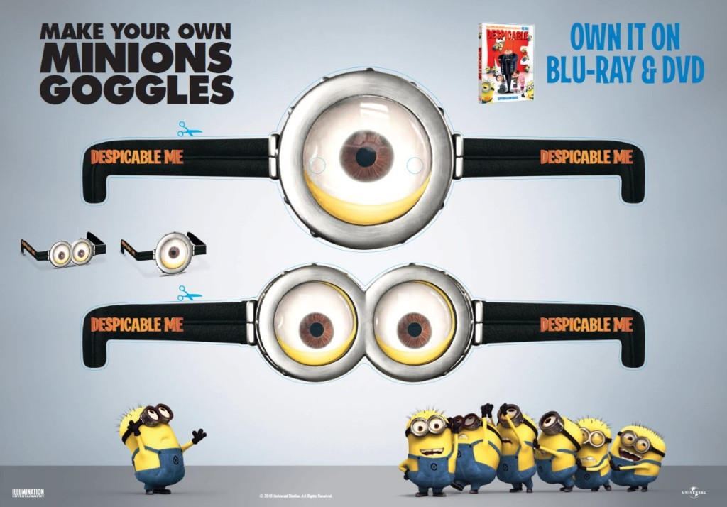 Original Printable Minion Goggles