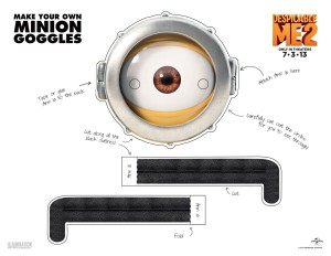 Printable Minion Goggles - One Eye