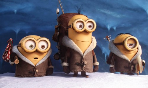 Bob, Kevin and Stuart from the Minion Movie