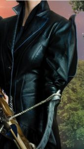 Black Jacket Sleeve Details