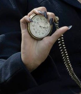 Miss Peregrine with her Pocket Watch